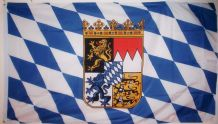 BAVARIA (WITH CREST) - 5 X 3 FLAG